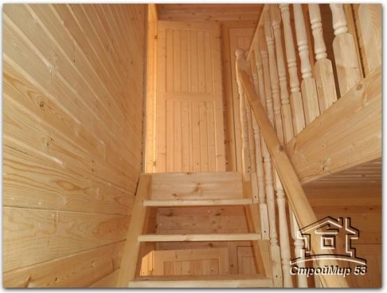 одномаршевая лестница в доме