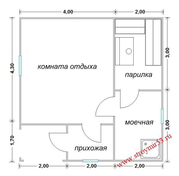 Размер: 6×6 метра