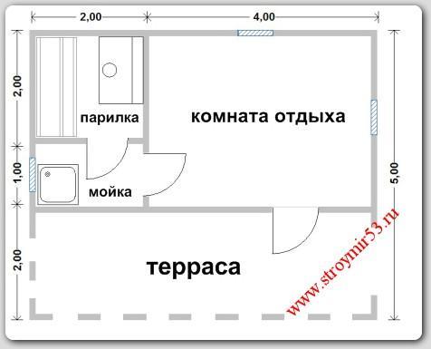 план бани 5х6
