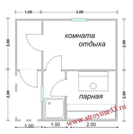 Схема бани 4 4