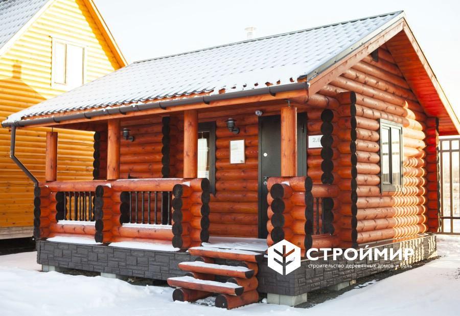 выставочная баня из бревна в Москве