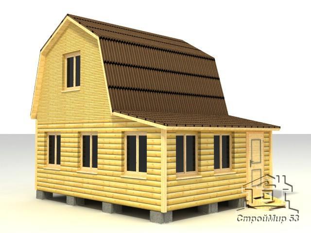 строительство дома 5х6 из бруса