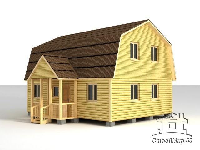 строительство дома 9х7 из бруса