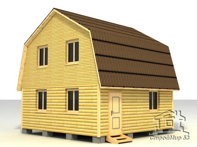 строительство дома 6х6 из бруса