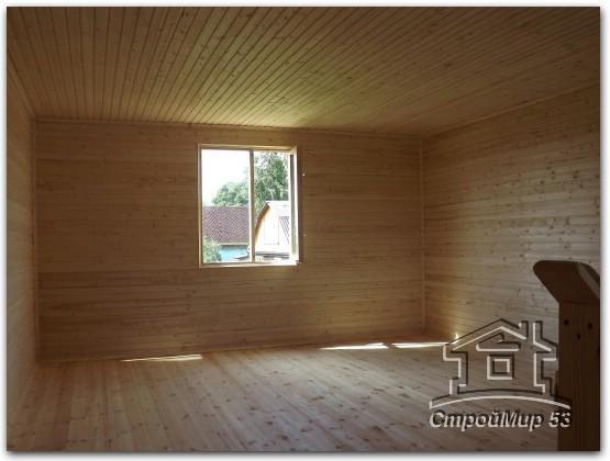 мансарда деревянного дома изнутри