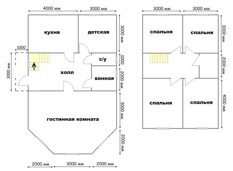 план дома 7х11