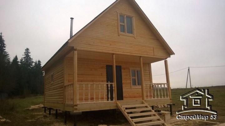 фото дома 6х8 с террасой