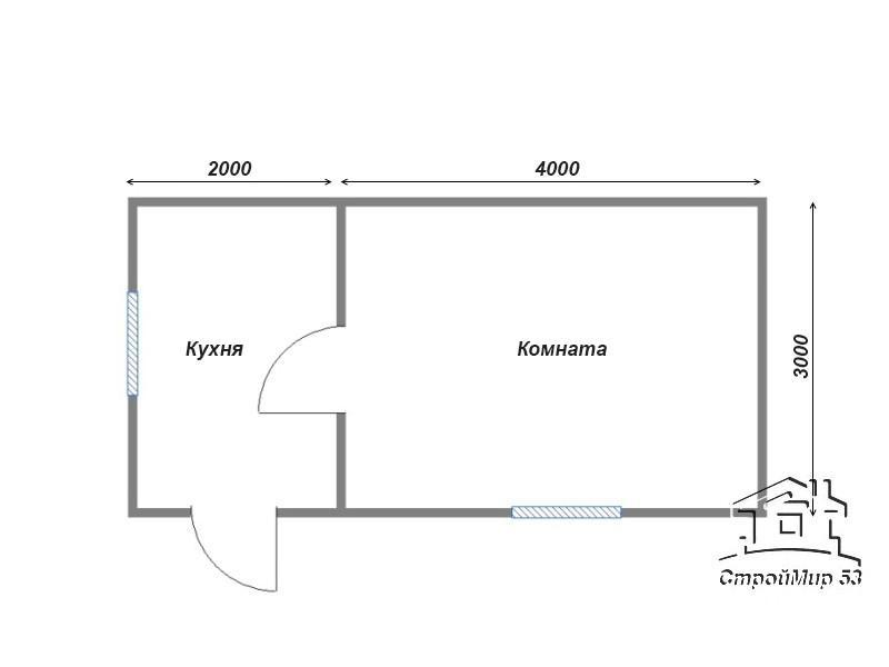 планировка 6х3