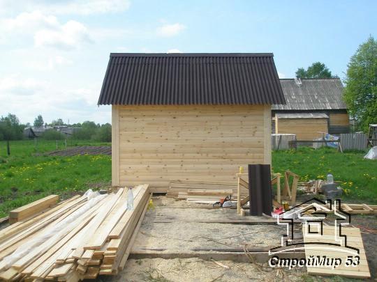 Строительство небольшой бани