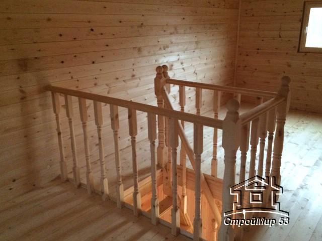 лестница и ограждения в бане