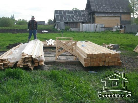 материал для строительства бани