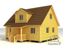 деревянный дом 7х9