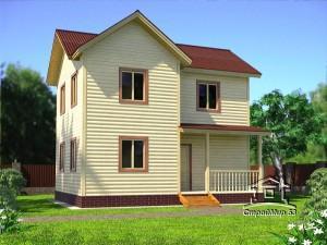 Проект двухэтажного дома 6х8 (проект Д-97)
