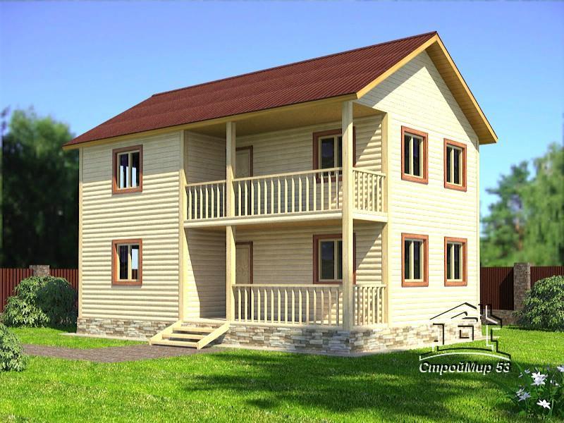 Проект двухэтажного дома 6х9 (проект Д-94)