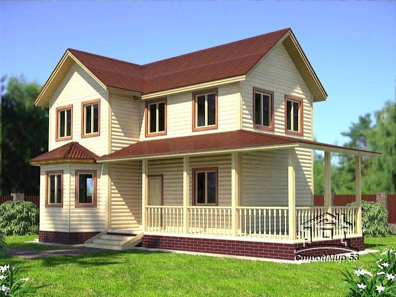 двухэтажный дом 7х12