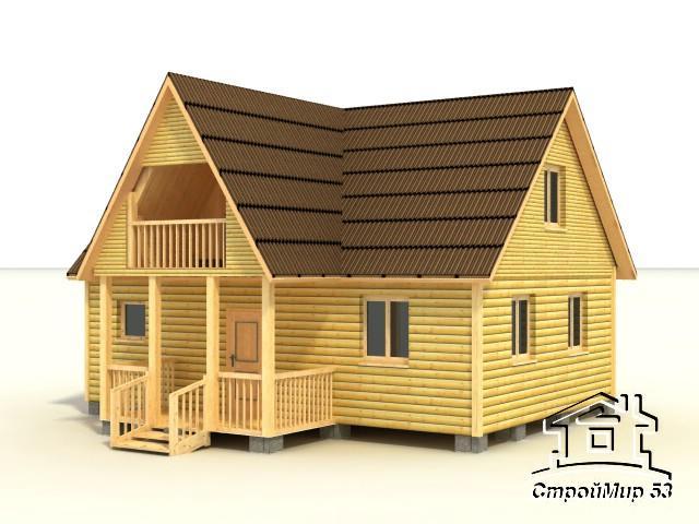 деревянный дома 8х8