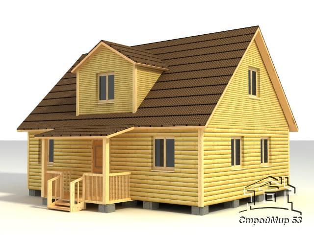 деревянный дома 7х9