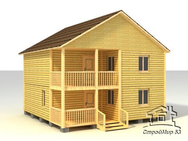 Проект двухэтажного дома 8х8