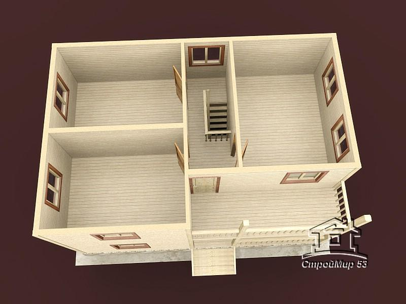 вид сверху второго этажа