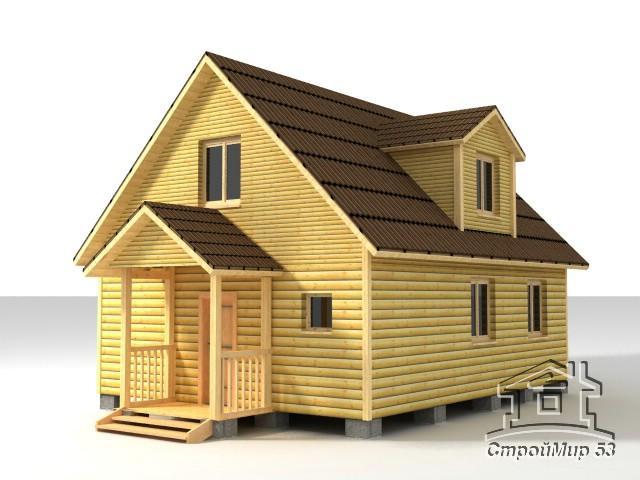 Дом из профилированного бруса 6х8