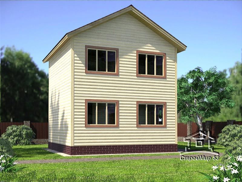 двухэтажный дом 6 6 с бревна