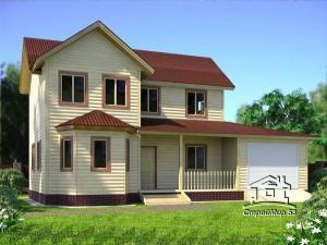 Проект дома с гаражом (проект Д-100)