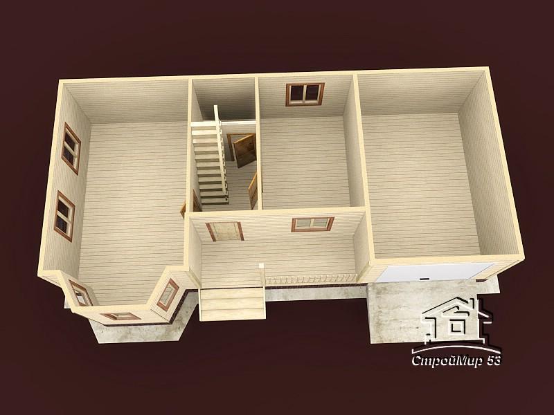 вид сверху первого этажа
