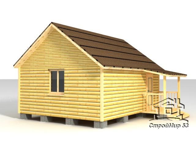баня 5х6 из деревянного бруса
