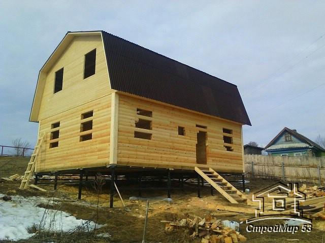 Дом из бруса в Рузе