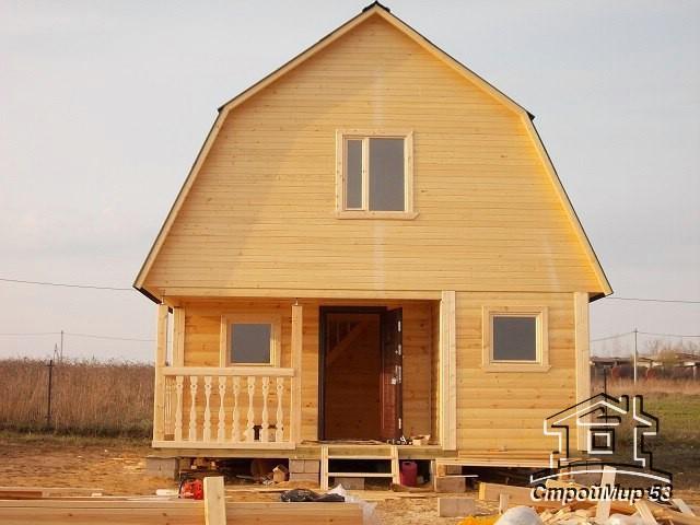 Большой фотоотчет строительства дома-бани