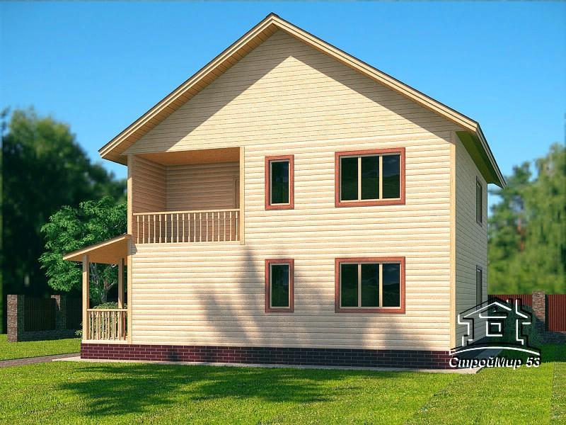 двухэтажный дом 9х9
