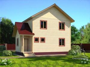Двухэтажный дом 8,5х9 (проект Д-88)