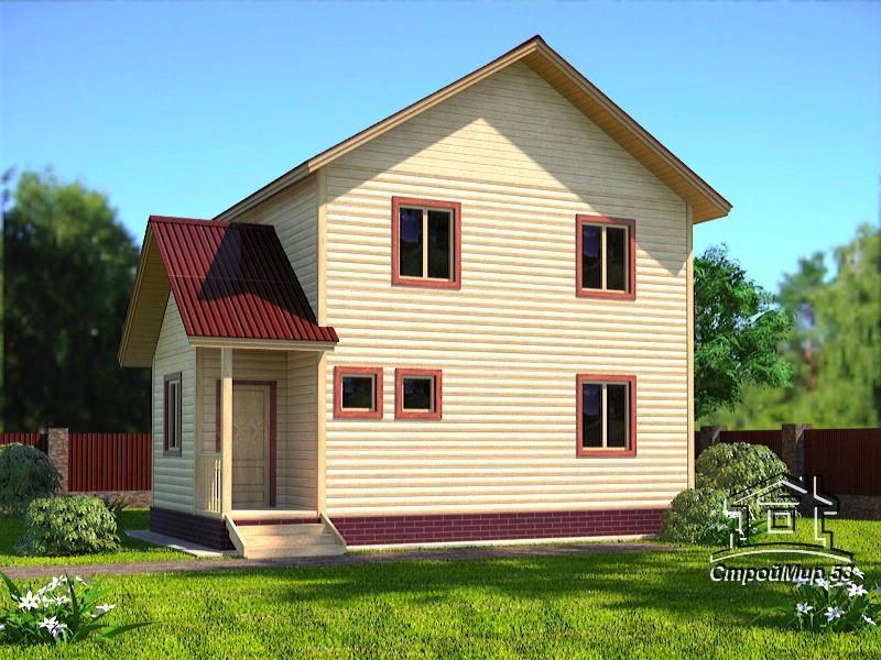 двухэтажный дом 7х8