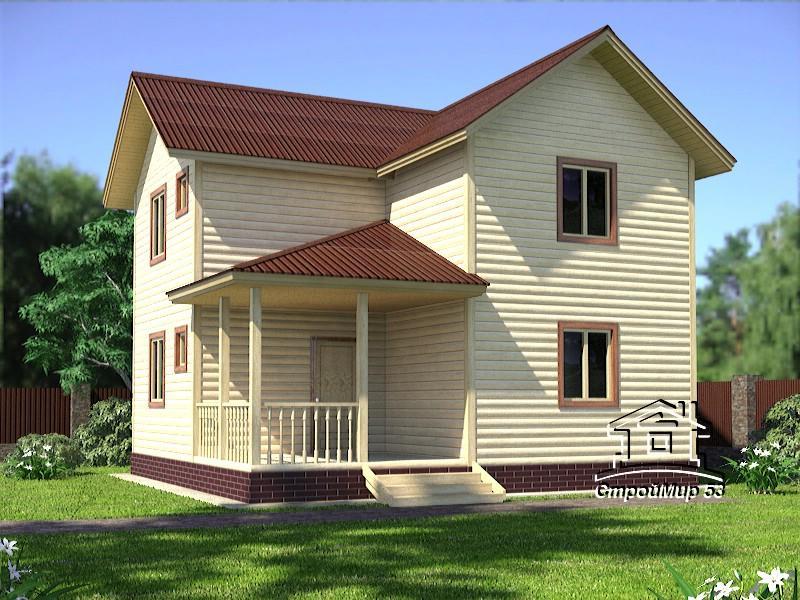 двухэтажный дом 8х6