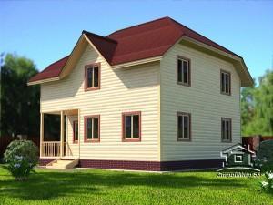 Двухэтажный дом 9х8 (проект Д-92)
