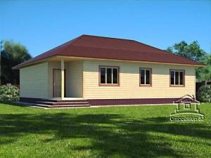 Одноэтажный дом 10х12 с вальмовой крышей (Д-8)