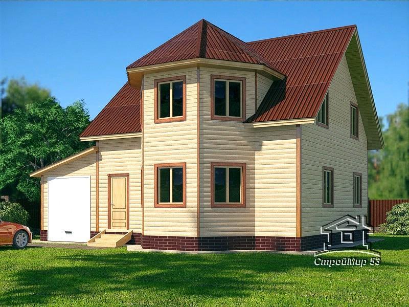 проект дома в полтора этажа