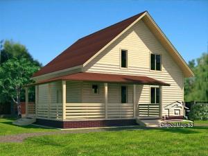 Дом 9,5х10 с террасой (проект Д-69)
