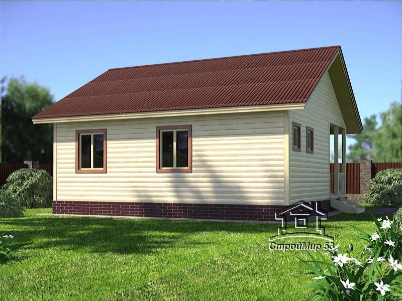 домик одноэтажный