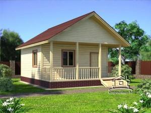 Дом одноэтажный размерами 6х7,5 (Д-13)