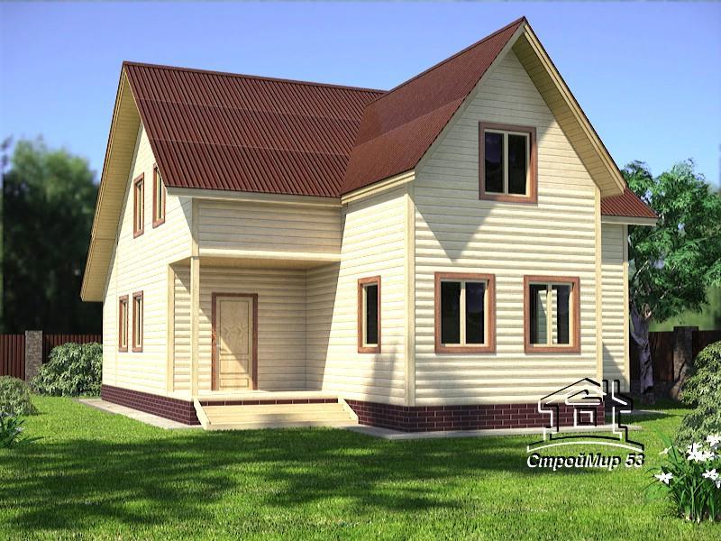 Дом 10х13 из бруса (проект Д-87)