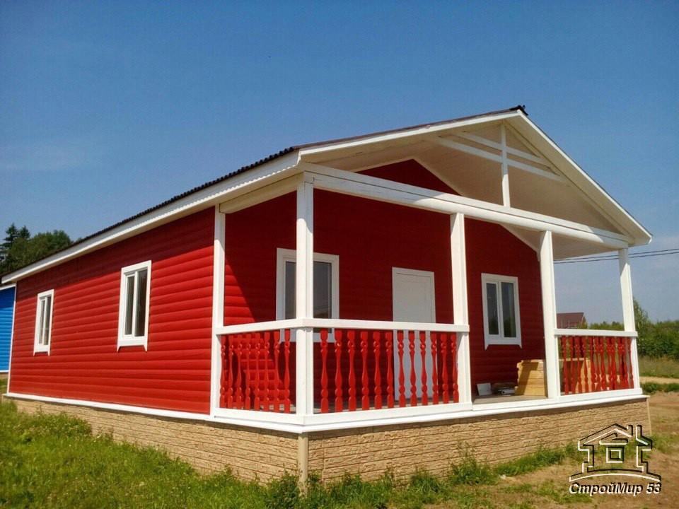Крашенные дома из бруса