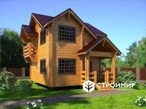 дом из клееного бруса - выставочный