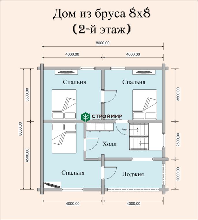 Дом из сухого бруса ДБ-14