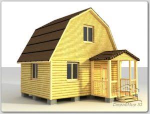Дом из бруса 4х5 по проекту (Д-23)