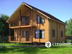 дом двухэтажный из клееного бруса