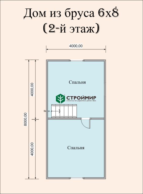 Деревянный дом 6х8 (Д-47)