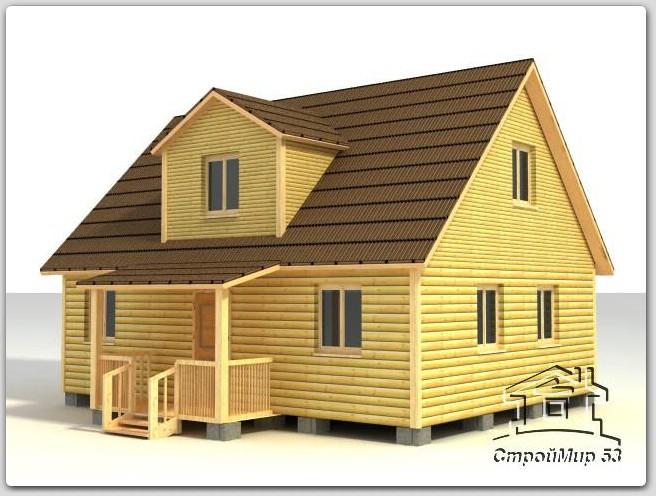 Деревянный дом 7х9 (Д-61)