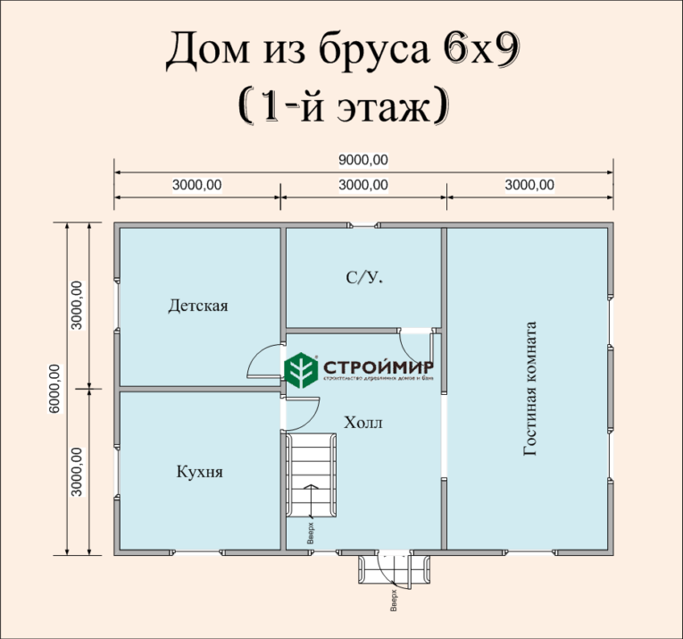 Проект дома 6х9 с мансардой (Д-59)