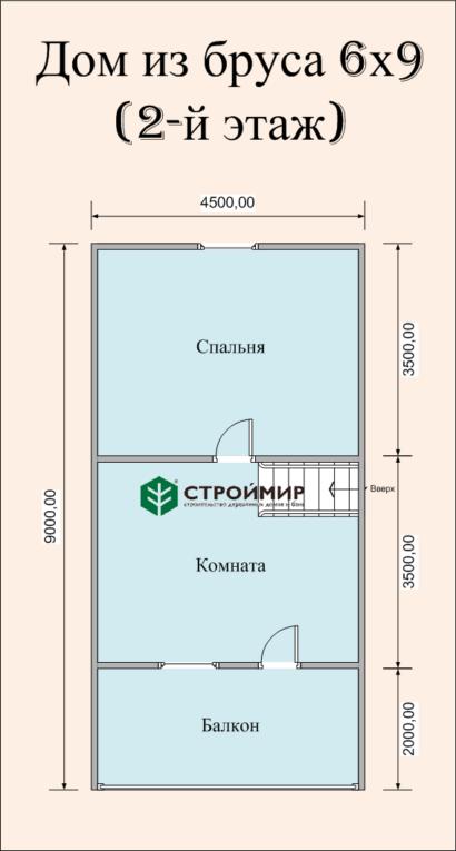 Дом 6х9 с балконом (Д-60)